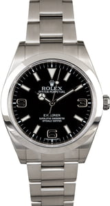Rolex Explorer 214270 Black Arabic Dial