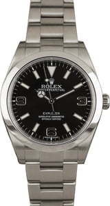 Men's Rolex Explorer 214270 Stainless Steel Black