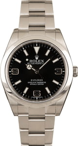 Authentic Rolex Explorer 214270 Black Dial Silver Arabic Numbers