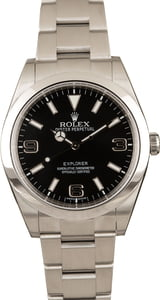 Used Rolex Explorer 214270 Arabic Markers Black Dial