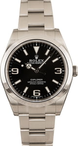 Pre-Owned Rolex Explorer 214270 Luminous Arabic Dial