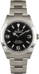 Pre Owned Rolex Explorer 214270 Luminous Black Dial