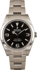 Pre Owned Rolex Explorer 214270 Luminous Arabic Markers T