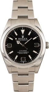 Pre-Owned Rolex Explorer 214270 Mark I Dial