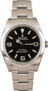 Rolex Explorer 214270 Black Dial Smooth Bezel