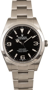 Pre-Owned Rolex Explorer 214270 Stainless Steel Oyster