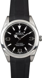 Shop Used Black Rubber Rolex Explorer Watches for Sale