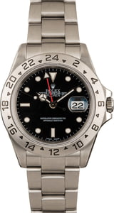 Pre-Owned Rolex Steel Explorer II - 16570 Black Dial