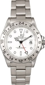 Pre-Owned Rolex Explorer II 16570 White Polar Dial