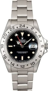 Authentic Rolex Explorer II 16570 Black