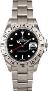 Pre-Owned Rolex Explorer II Ref 16570 Black Dial