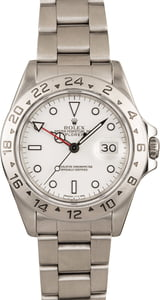 Pre-Owned Rolex 16570 Explorer II 'Polar' Dial