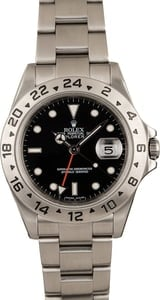 Pre-Owned Rolex Explorer II Ref 16570 Black Luminous Dial