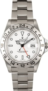 Rolex Explorer II 16570 White Dial 100% Authentic