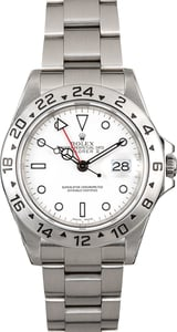 Men's Rolex Explorer II 16570 White Polar Dial