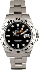 Pre Owned Rolex Explorer II Ref 216570 Black Dial