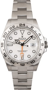 Used Rolex Explorer II Steel 216570 White Dial