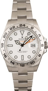 Pre-Owned Rolex Explorer II White Dial Oyster Bracelet