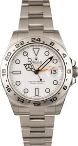 "Pre-Owned Rolex Explorer II Steel 216570 White ""Polar"" Dial"
