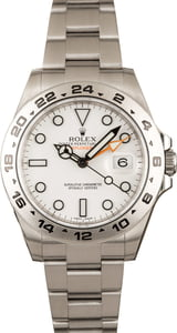 Rolex Explorer II 216570 White Dial 100% Authentic