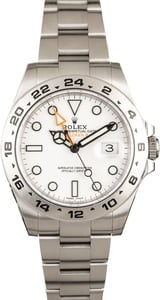 Rolex Explorer II 216570 Luminous White Dial
