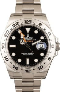 Rolex Explorer II 216570 Black Dial 100% Authentic