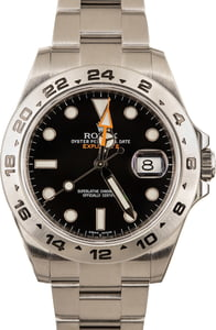 Men's Rolex Explorer II Ref 216570 Black Luminous Dial