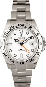 Rolex White Explorer II 216570 Steel 42MM
