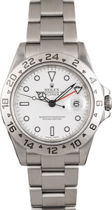Pre Owned Rolex White Dial Explorer II Ref 16570