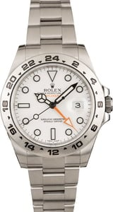 Pre-Owned Rolex Explorer II Ref 216570 White Dial 42MM