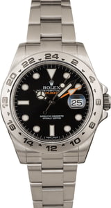 Used Rolex Explorer II Ref 216570 Steel Watch Black Dial