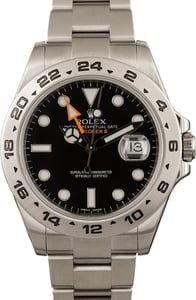 Pre-Owned Rolex Explorer II Ref 216570 Orange GMT Hand