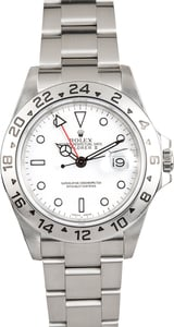 Rolex Explorer II White Steel 16570