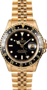 Rolex GMT Master II 16718 Jubilee 18K Yellow Gold