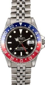 Rolex Vintage GMT-Master 1675 Certified PreOwned