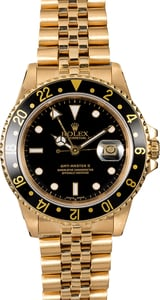 Rolex GMT Master 16758 Yellow Gold Jubilee