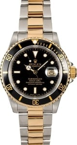 Authentic Rolex Submariner 16803 Two-Tone Oyster