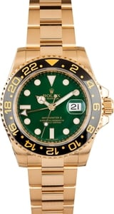 Rolex GMT Master II Ceramic Gold Green Dial