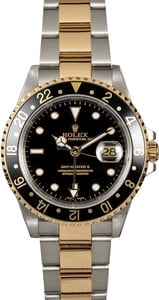 Men's Rolex GMT-Master II 16713 Black Dial