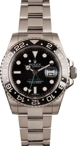 Pre-Owned Rolex Steel GMT-Master II Ref 116710 Black Dial