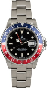 "PreOwned Rolex GMT-Master 16700 Red and Blue 'Pepsi"" Bezel"