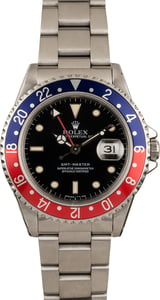 Pre-Owned Rolex GMT-Master 16700 Pepsi Bezel Watch