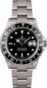 Steel Rolex GMT Master 16710 Black Bezel