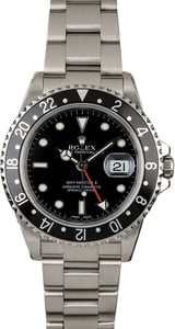 Used Rolex GMT Master 16710 Black Bezel