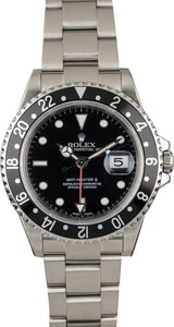Certified Rolex GMT Master 16710 Black Timing Bezel