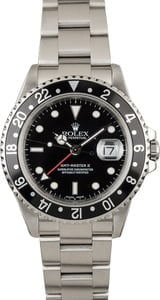 PreOwned Rolex GMT Master 16710 Black Timing Bezel