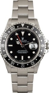 PreOwned Rolex GMT Master II Ref 16710 Black Dial