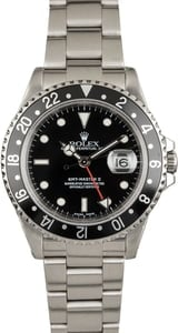 Certified Pre Owned Rolex 16710 GMT-Master II Black Dial