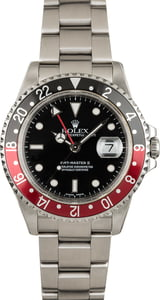 Pre Owned Rolex Coke GMT Master II 16710 Red/Black Bezel
