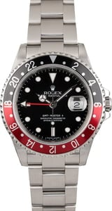 Pre Owned Rolex GMT Master 16710 Black Timing Bezel
